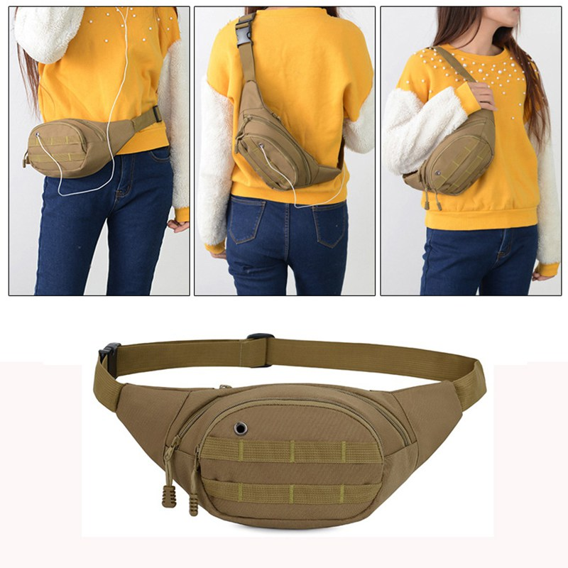 1pc Dual Pocket Phone Runner Waist Bag Pack Pouch Bum Sport Jogging Gym Yoga Bag