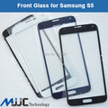 Mjjc whole sale 10 pçs/lote outer lente de vidro para samsung galaxy s5 i9600 vidro cor preto azul branco frete grátis