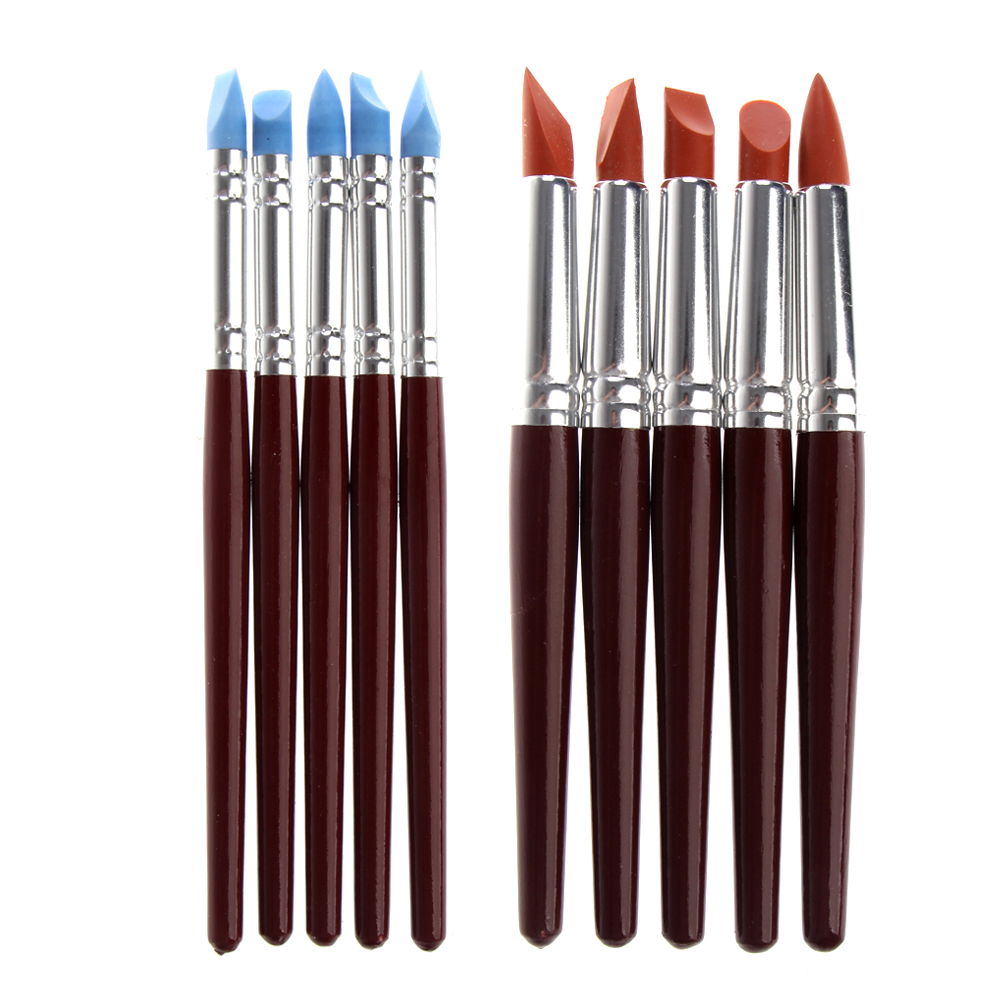 5pcs Carving Clay Sculpture Tool Students Artist Essential Equipment Pottery Clay Art Craft Supply for Carving Shaping Modeling