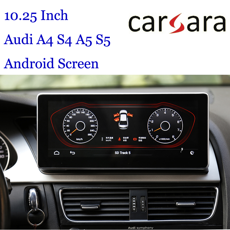 10.25 Au di Headunit Android Display for A4 S4 RS4 A5 S5 RS5 8K 8T 8R Smart Cockpit Touch Screen MP4 MP5 Multimedia DVD Player