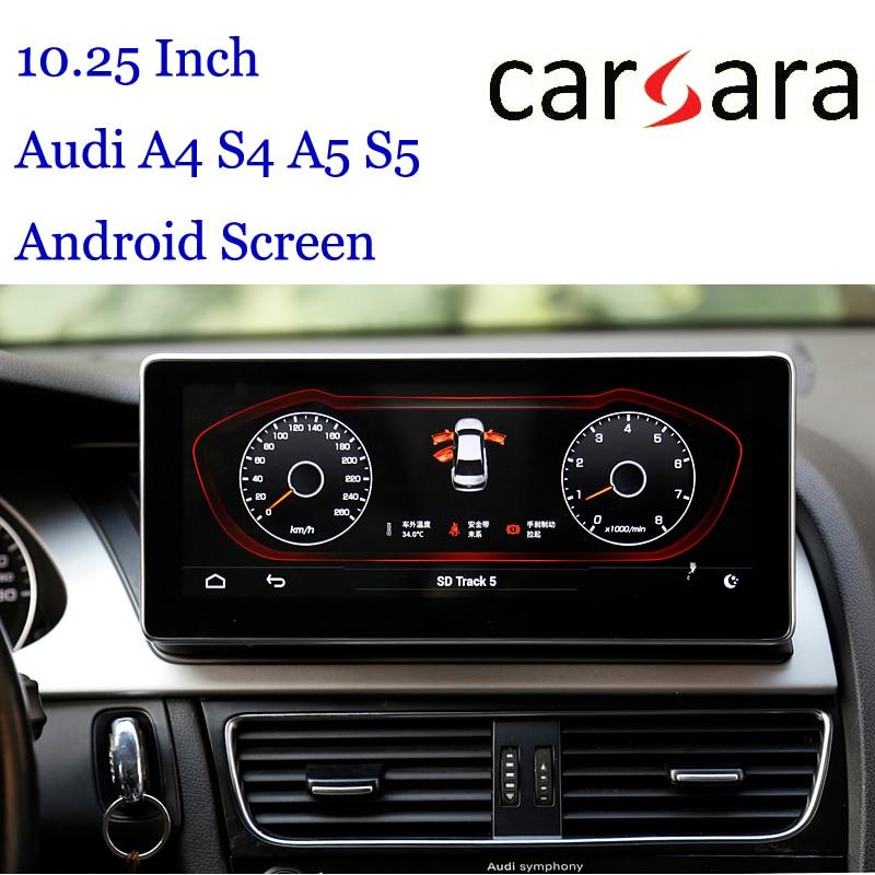 10.25 Au di Headunit Android affichage pour A4 S4 RS4 A5 S5 RS5 8 K 8 T 8R Smart Cockpit écran tactile MP4 MP5 lecteur DVD multimédia