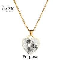 Индивидуальное индивидуальное ожерелье изображения ожерелье с подвеской в виде сердечка ожерелье из нержавеющей стали для женщин mujer