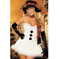 Snowman sexy christmas costumes for women Christmas Snow Maiden costume for women santa claus costume christmas dress disfraces