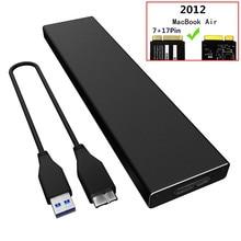 Внешний жесткий диск чехол для 2012 MacBook Air SSD USB 3,0 до A1465 A1466 SSD адаптер Корпус для MD223 MD224 MD231 M232