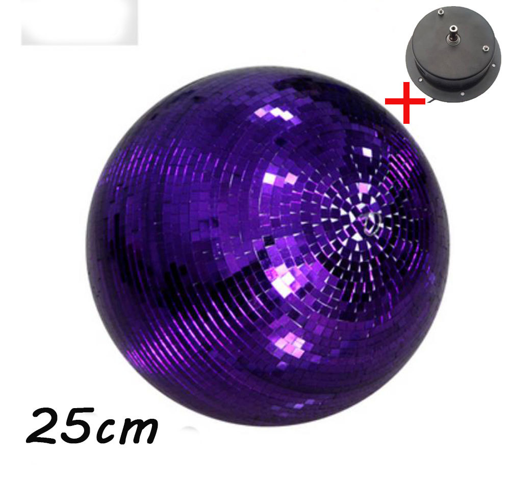 D25cm Purple glass rotating mirror ball 10