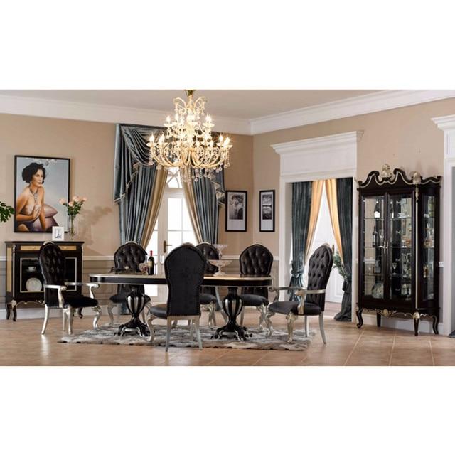 0402 negro diseño italiano antiguo mesa de comedor en Sets de Sala ...