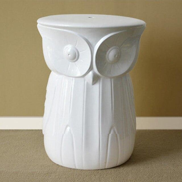 Living Room Ceramic Owl Stool