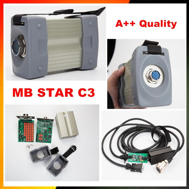 imágenes para Envío de DHL mb star c3 conjunto completo con cinco cables mb estrella c3 del escáner herramienta de diagnóstico mb star c3 multiplexor sin software