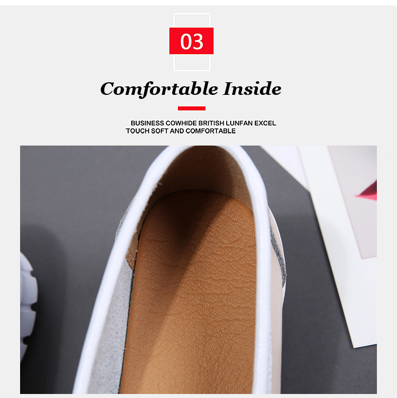 Spring Women Shoes Genuine Leather Handmade Flats Casual Shoes Woman Slip-on Loafers Ballet Flats Ladies Shoes Slipony (4)