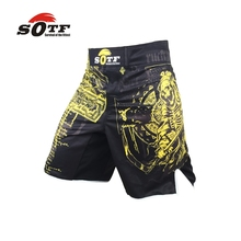 SOTF yellow Azrael breathable sports font b fitness b font mma fighting boxing font b shorts