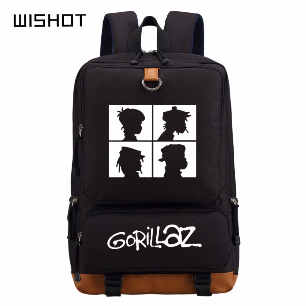 e81b2849113c US $25.9 |WISHOT Gorillaz backpack schoolbag backpack for teenagers School  Bags travel Shoulder Bag Laptop Bags-in Backpacks from Luggage & Bags on ...