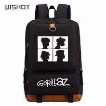 WISHOT Gorillaz sırt çantası schoolbag gençler için sırt çantası Okul Çantaları seyahat omuz çantası Laptop Çantaları
