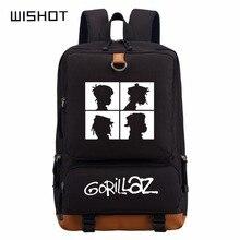 WISHOT Gorillaz תרמיל ילקוט תרמיל עבור בני נוער בית הספר שקיות נסיעות כתף תיק מחשב נייד שקיות