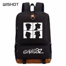 WISHOT الغوريلا على ظهره المدرسية على ظهره للمراهقين المدرسة حقائب السفر الكتف حقيبة الحقائب المحمولة