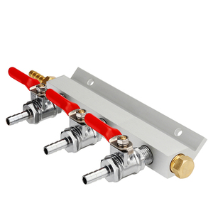 Image 2 - 3 דרך CO2 גז הפצה בלוק סעפת ספליטר עם 7mm צינור עקיצות בית מתבשל שסתומים טיוטת בירה לוותר חבית עם 4 מלחציים