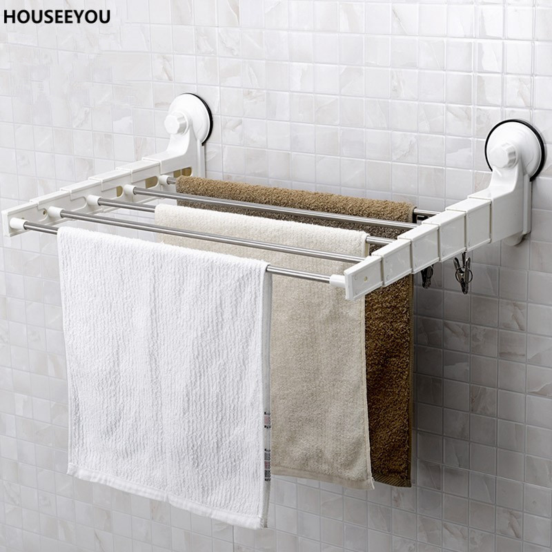 strong suction towel rack stainless steel towel bars bathroom towel rail kitchen hotel towel holder hardware