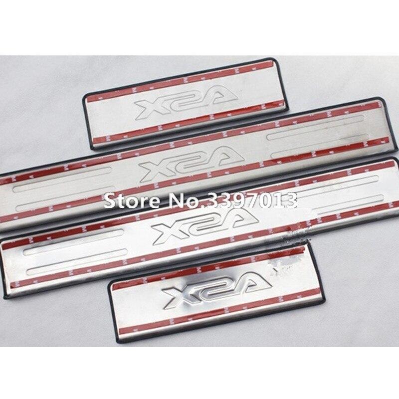 LB для 2011 2012 2013 Mitsubishi ASX накладки для порогов автомобиля из нержавеющей стали 4 шт./компл. автомобильные аксессуары