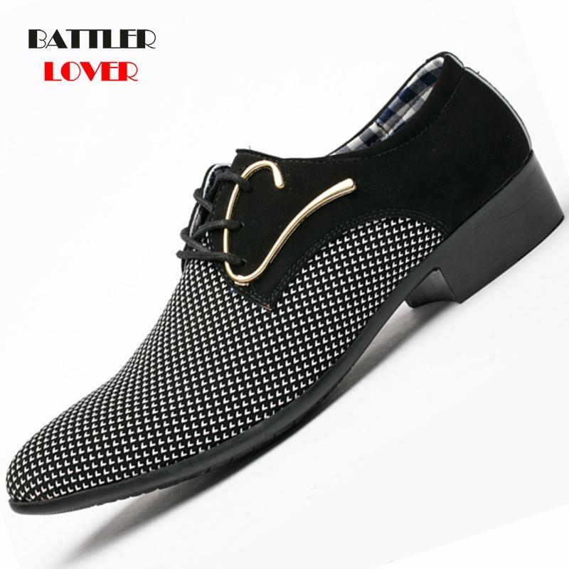 Mens Leather Concise Shoes Men
