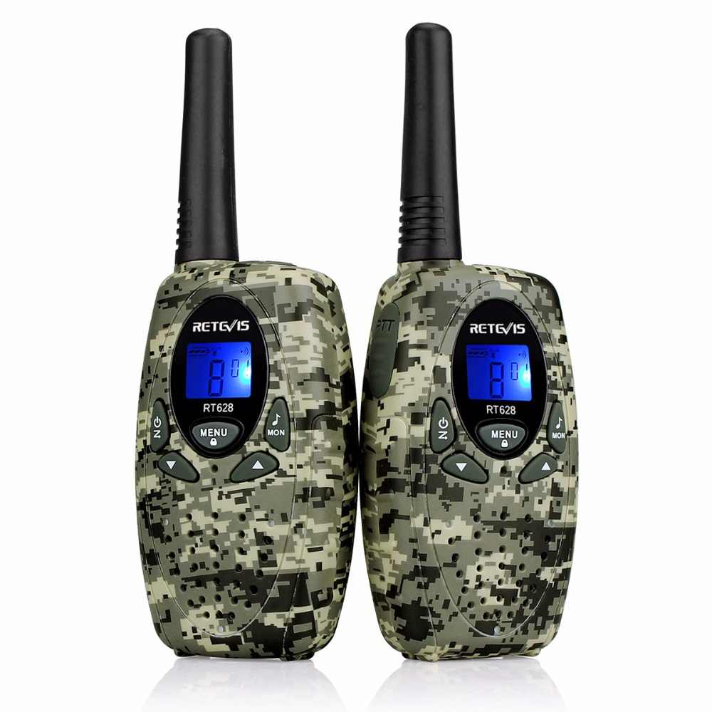 2pcs Earpiece+Kids Radio Walkie Talkie RETEVIS RT628 0 5W UHF 446MHz  Frequency Ham Radio Hf Transceiver A1026B