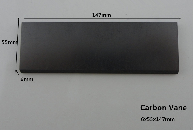 6x55x147mm carbon vanes for Spray Paint Equipment / artificial graphite plate for vane pumps цена