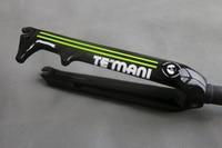 2017 New TEMANI Full Carbon Fiber Folding Bike BMX Fork 14 16 20 Inch Bike Bicycle Carbon Forks C Brake+Disc Brake BMX fork