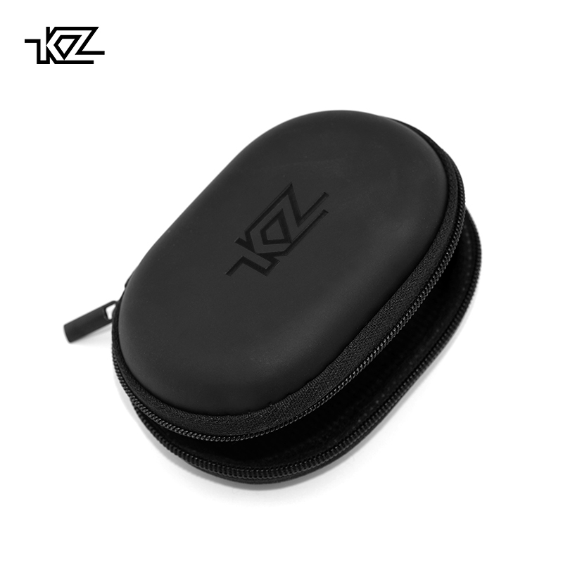 KZ Case Earphone Black Square Type PU Case Earphone Case Bag Portable Absorption Storage Package Headset Earphone BA10 AS10 ES4(China)