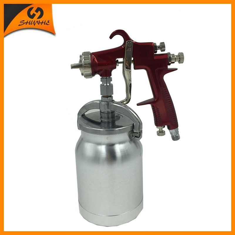 цена на SAT1179 professional spray gun lvmp air spray paint gun pneuamtic car paint spray painter lvmp paint spray gun pressure tank