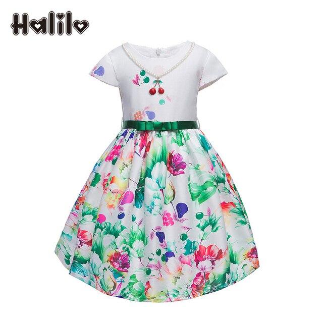738b989a6 Halilo Niñas Infantiles Vestido de Niña de las Flores Vestidos de Partido  de la Alta Calidad