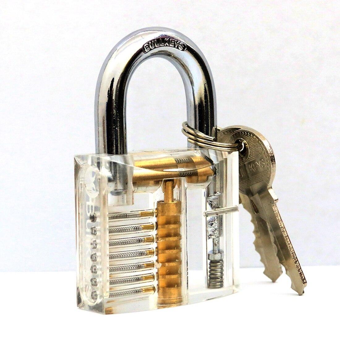Promote Cutaway Inside View Of Practice Transparent Padlock Lock Training Skill Pick View Padlock For Locksmith With Smart Keys