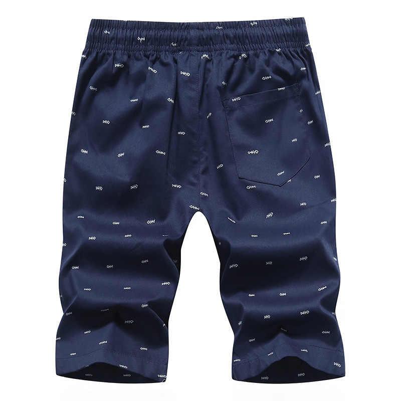 Heißer Verkauf Sommer männer casual Shorts 5XL Herren Druck Strand Shorts Baumwolle Beiläufige Männliche Shorts Homme Marke Kleidung HY111
