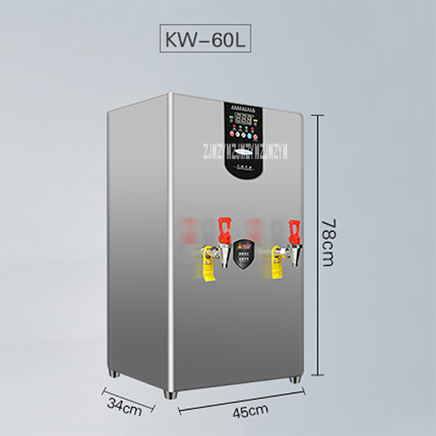 KW 60L Electric Large Capacity Stainless Steel Stepping Water Boiler Commercial Automatic Drinking Water Boiler Machine 6000W|Water Dispensers| |  - title=