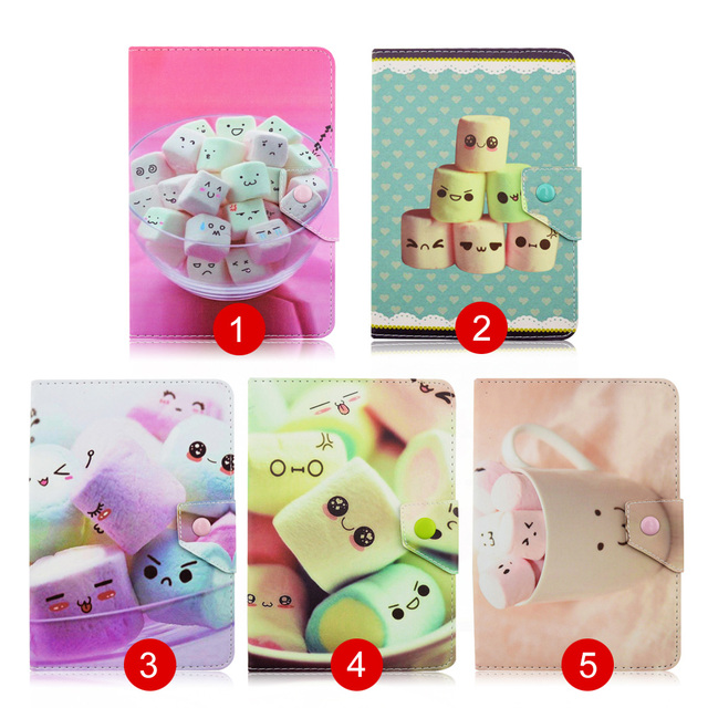 """Cotton candy PU Leather Case Stand Cover For Samsung Galaxy TAB 2 10.1 P5100 P5110 P7510 10"""" 10.1 inch Universal Android Tablet"""