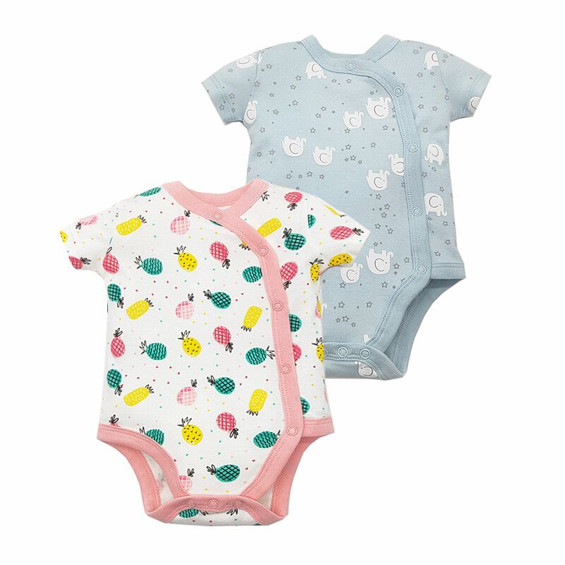 Newborn Baby Bodysuits Short Sleevele Baby Clothes 100% Cotton Cartoon Baby Jumpsuit O-neck 0-24M Baby Clothing Infant