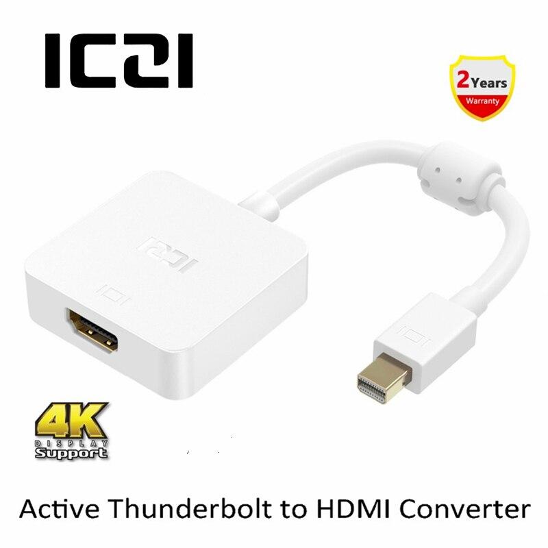 Thunderbolt to HDMI Monitor 2160p Mini DisplayPort to HDMI Adapter Passive