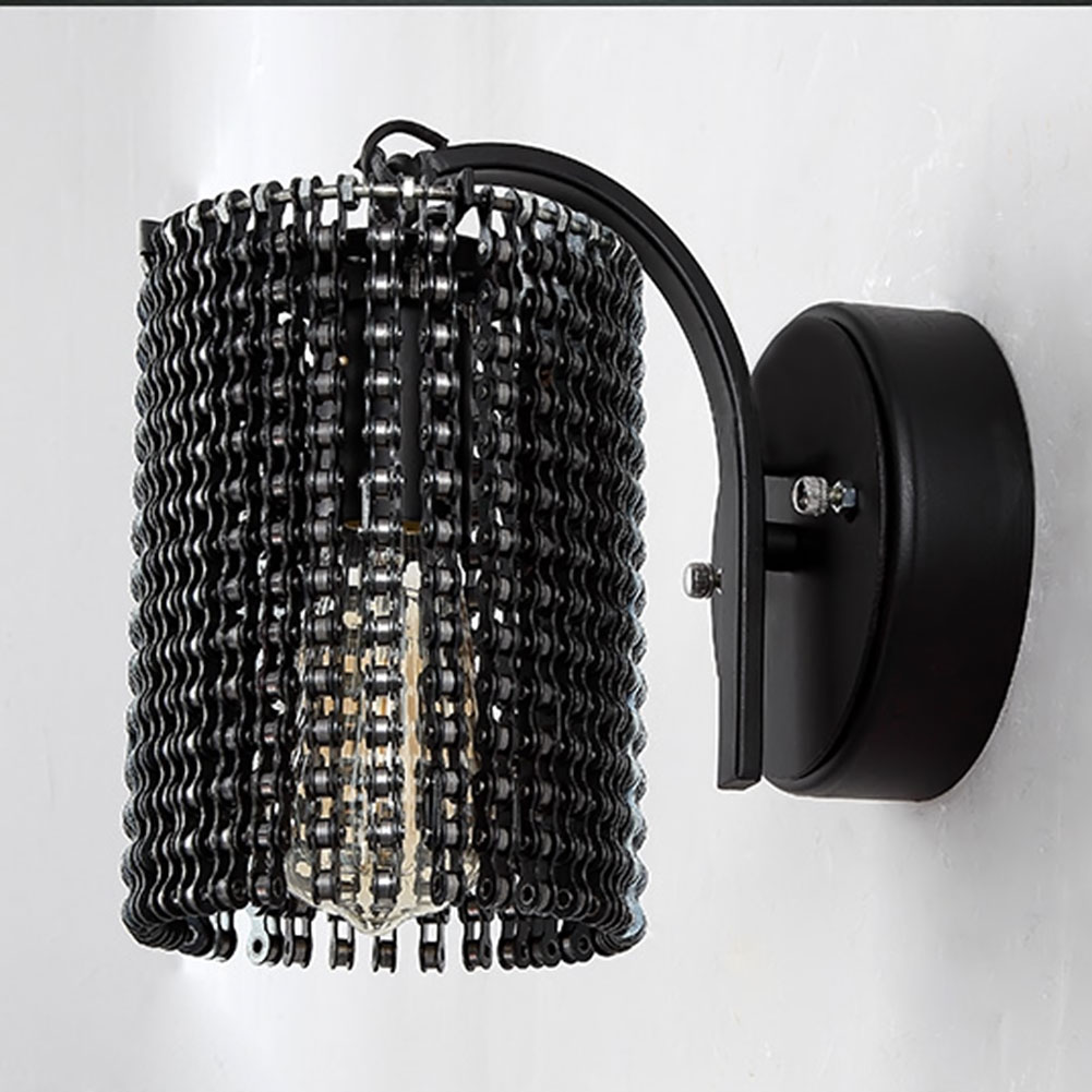 Modern Wall Lamps Sconces Iron Bicycle Chain for Restaurant Bedroom Decorative Wall Lights Lamparas Home Lighting Fixture sconces chinese style wall lamps reading lights fixture decorative night light for pathway staircase bedroom lamp fixtures