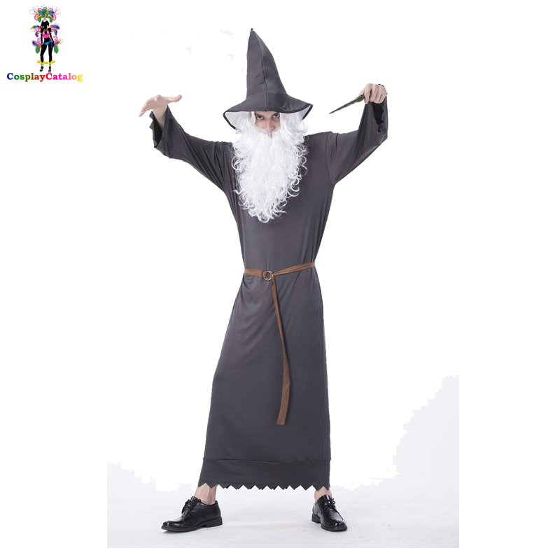Magic Academy Elders Cosplay Costume Halloween Adult Man Witch Uniforms The Lord of the Rings Gandalf Costumes Size M L XL
