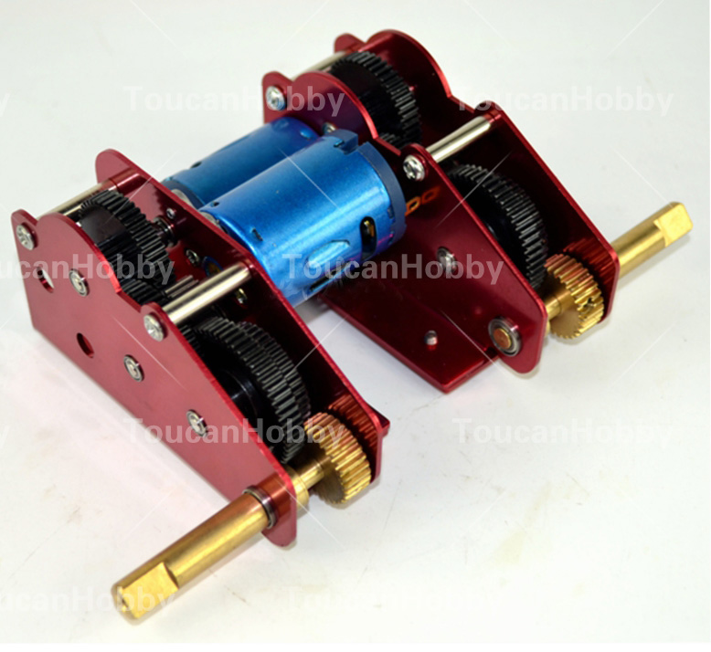 M+L 59mm Ultimate II Metal Gearbox HengLong Tank 3869 3879 3888 3888A 3899 3899A 3938 henglong 3869 3879 3888 3899 rc tank 1 16 parts steel drive system driving gear box free shipping