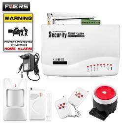 FUERS беспроводной GSM охранная сигнализация системы умный дом гараж детектор движения сенсор России/Английский Голос безопасности