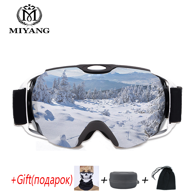 Skiing Eyewear Glasses Spherical Double Anti-fog Goggles Anti-Snow Goggles Mountaineering Mirror UV Can Be Placed Myopia Glasses 100% brand barstow retro motorcycle glasses anti fog wind skiing glasses mtb road eyewear tear off film cycling glasses men
