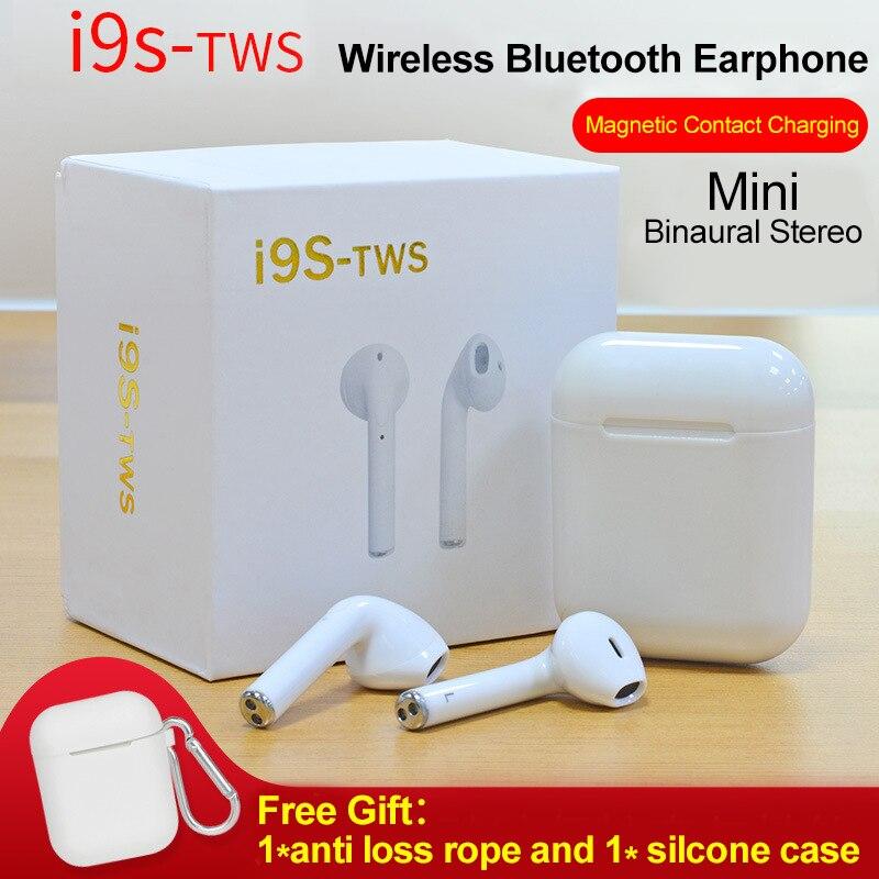 I9S TWS Drahtlose Bluetooth Kopfhörer Tragbare Bluetooth Headset Unsichtbare Earbuds für IPhone X 8 7 Plus Für Xiaomi Android Handys