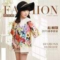 Niños Ropa de los Cabritos de La Muchacha Ropa 2016 Niñas Establece Marca Dobby Floral Niños Chándal (Jacket + Dress) Niñas Sistemas de la ropa