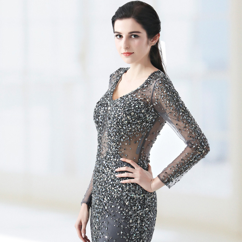 3 color Long Dress Women Stage Dance Rhinestone Birthday Dress Party Female Singer Costume Evening Celebrate Outfit hand-made
