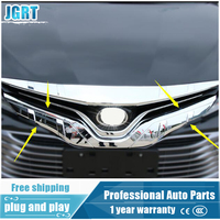 2018 car styling for Toyota Camry chrome front grille trim for Camry grille decoration strip 1 pcs