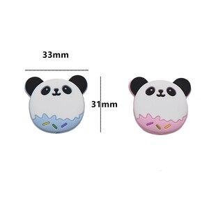 Image 3 - Chengkai 50 PCS Silicone Panda Kralen DIY Baby Schattige Dieren Tandjes Oral Care Hanger Douche Bijtring Zintuiglijke Sieraden Speelgoed Gift