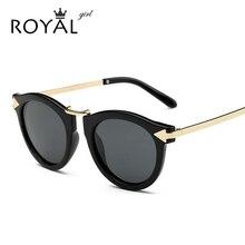 ROYAL GIRL Summer fashion Brand Designer Vintage Trend Sunglasses Round Retro Sun Glasses lady chic shades ss084