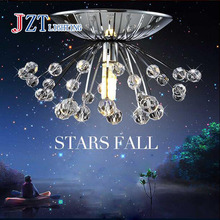 Z Modern originality Dandelion stainless steel diameter 150mm x height 70mm crystal mini ceiling lamp Aisle porch lamp