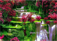 Natural Scenery Mosaic DIY Diamond Painting Crystal 3D Flowing Water Cross Stitch Decorative Diamond Embroidery BK