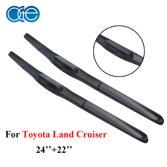 Professional Car Wiper Blades For Toyota Land Cruiser 100/200, 24''+22'' High Quality Silicone Rubber Windshield Car Accessories