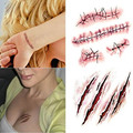 10Pcs/set halloween scar tattoos funny toy fake scab blood special party makeup costume terror Wound Scary Blood Injury Sticker