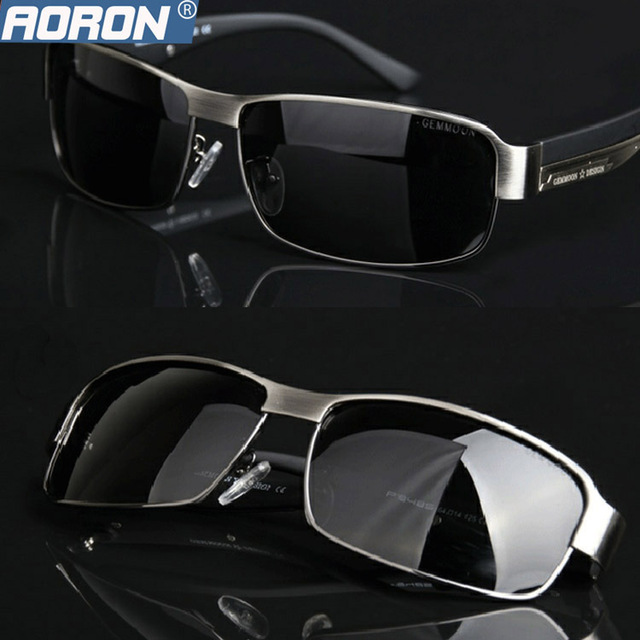 AORON Mens Polarized UV400 Sunglasses For Driving Car Sports Fishing Male Original Luxury Famous Brand Sun Glasses Men's